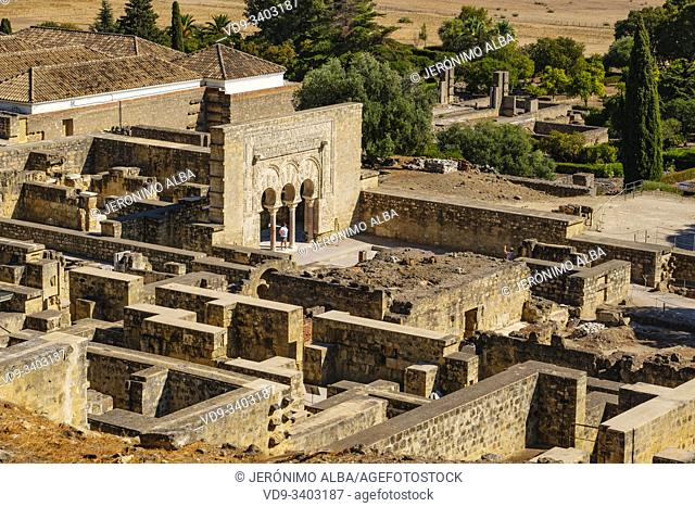 Yafar house, UNESCO World Heritage Site, Medina Azahara. Archaeological site Madinat al-Zahra. Cordoba. Southern Andalusia, Spain. Europe