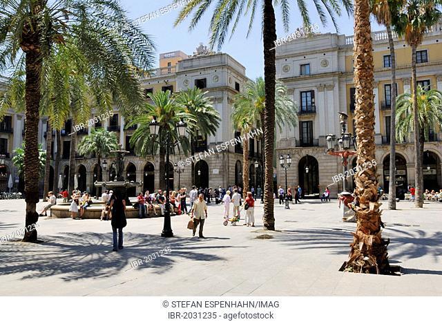 Plaça Reial, Plaza Real, architect Francesc Daniel Molina i Casamajó