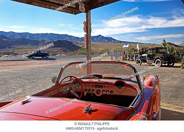 United States, Arizona, Route 66, Hackberry General Store, Chevrolet Corvette