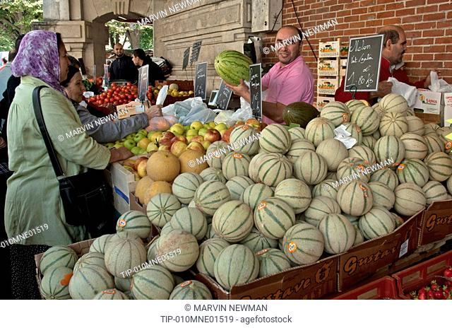 France, Picardie, Soissons, the market