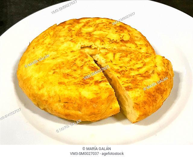 Spanish omelet serving. Spain