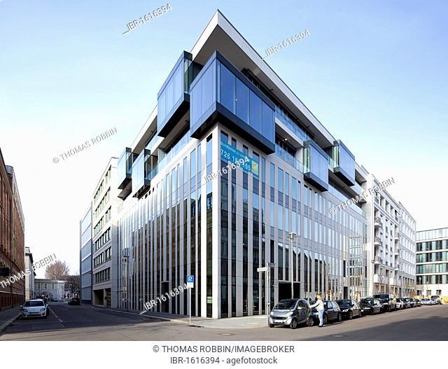 Modern office building on Jaegerstrasse street, Mitte district, Berlin, Germany, Europe