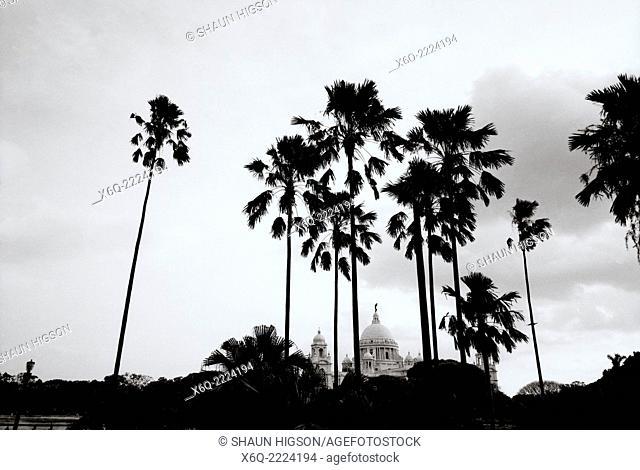 The Victoria Memorial in Calcutta (Kolkata) in West Bengal in India