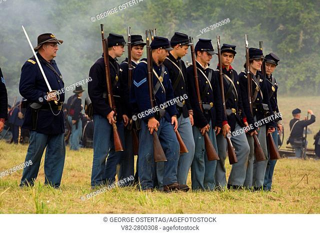 Union soldiers, Civil War Reenactment, Willamette Mission State Park, Oregon
