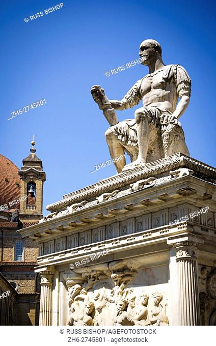 Monument to Giovanni delle Bande Nere, Basilica di San Lorenzo, Florence, Tuscany, Italy