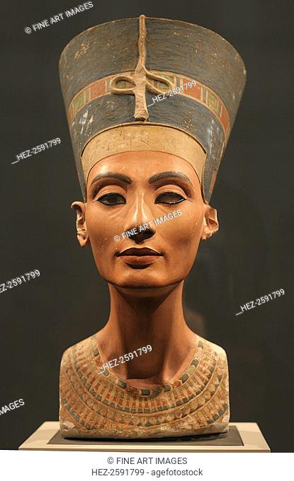 The Nefertiti Bust, ca 1350 BC. Found in the collection of the Staatliche Museen, Berlin
