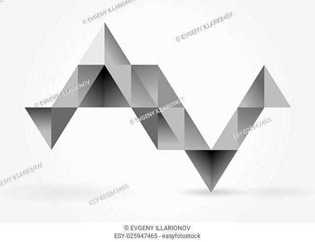 Abstract grey triangles infographics design