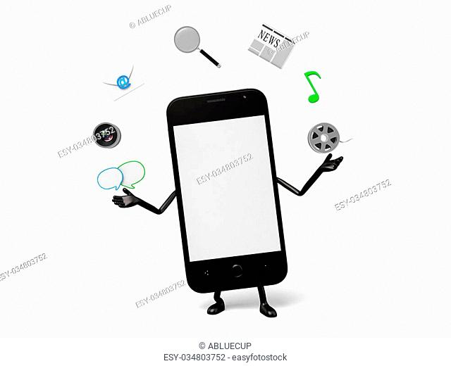 The 3d smartphone and a lot of Apps