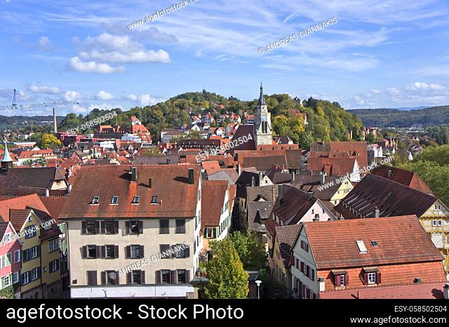 Tübingen, Old city view from the hill, Germany