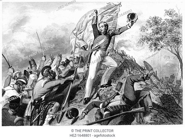 'Capture of the guns by the Highlanders before Cawnpore', 1857, (c1860). Battle during the period of East India Company rule in what is now known as Kanpur