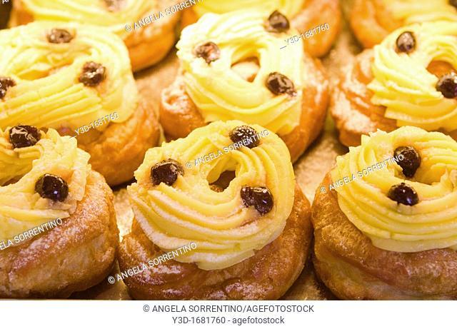 Zeppole, typical italian pastries