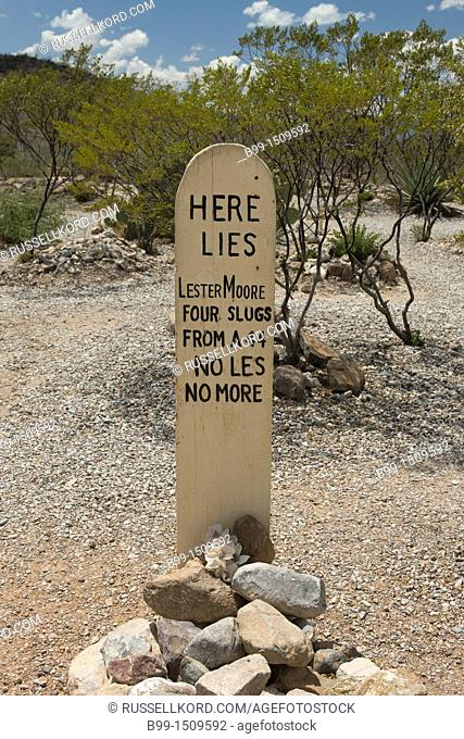 Grave Boot Hill Graveyard Tombstone Cochise County Arizona USA