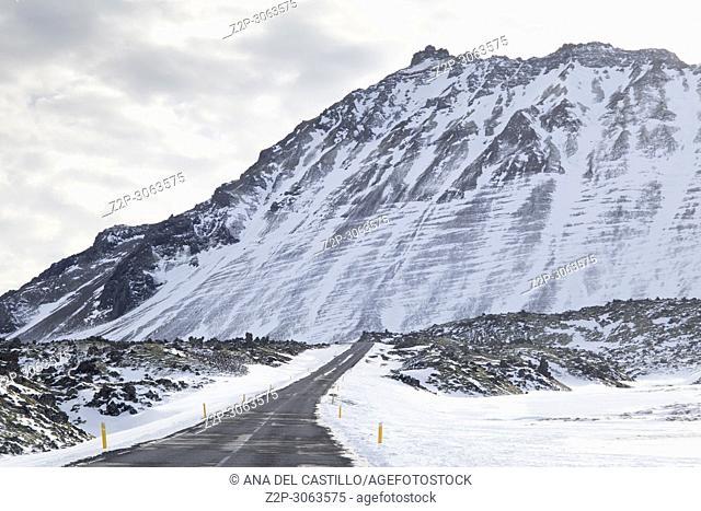 Snaefellsnes peninsule West of Iceland in winter