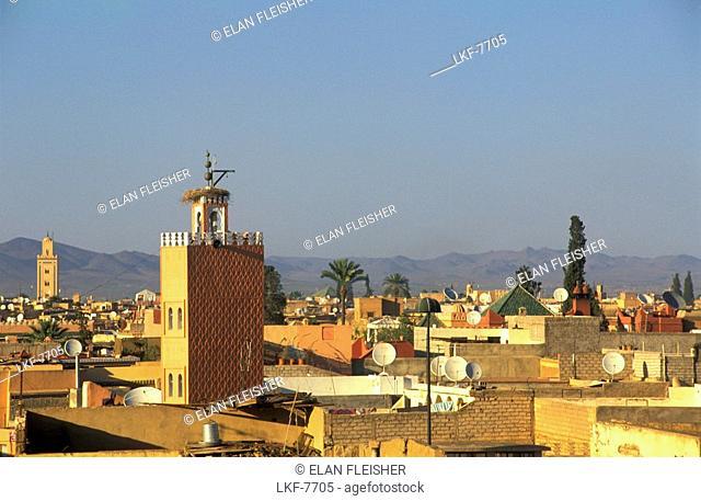 View over Marrakesh, Skyline, Marrakesh, Morocco