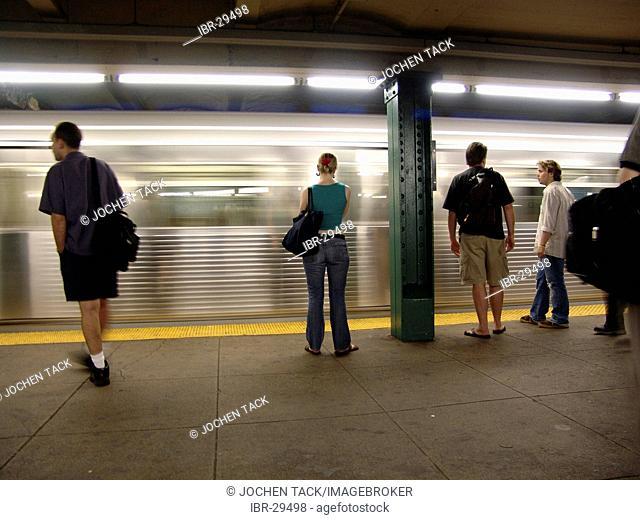 USA, United States of America, New York City: New York Subway. Subway station imes Square, 42nd Street