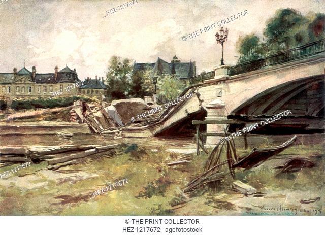 'The Bridge at the Aisne', France, 1915, (1926)