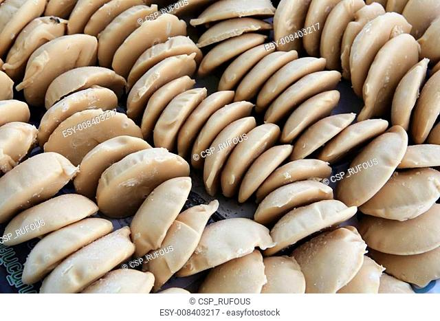 The palm sugar or Jaggery