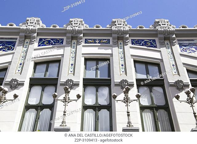 Art deco building in Zamora monumental town in Castile Leon on June 3, 2018 Spain
