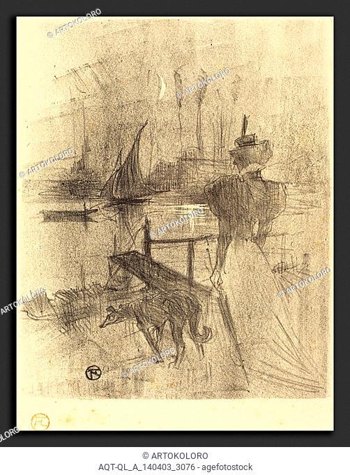 Henri de Toulouse-Lautrec (French, 1864 - 1901), Adieu, 1895, lithograph in black on velin paper