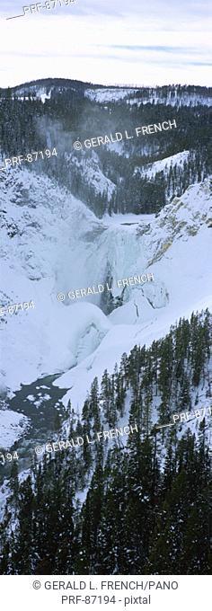 Lower Yellowstone Falls Yellowstone National Park CA