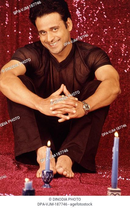 2000, Portrait of Indian film actor Manoj Bajpai