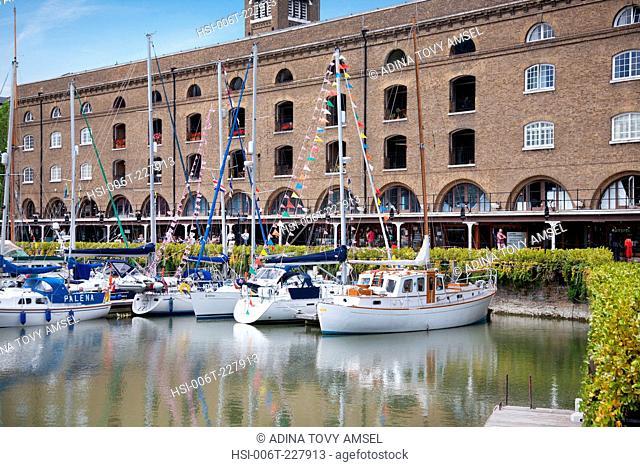 England. London. St. Katharine Docks and Ivory House