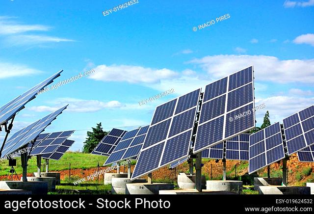 Photovoltaic panels in solar park