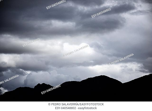 Hills and clouds in Pyrenees, Spain