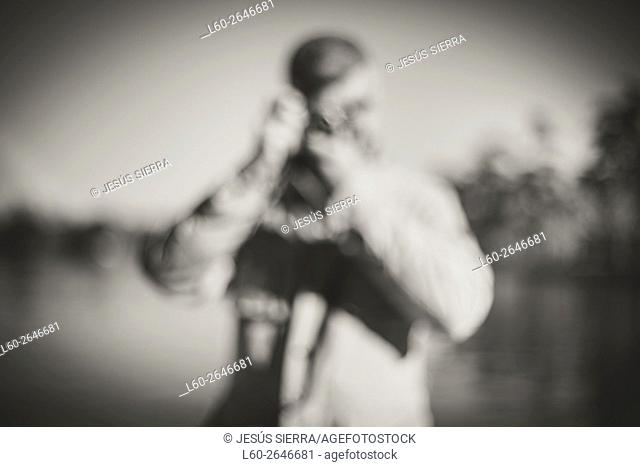 Blur photographer. Madrid. Spain