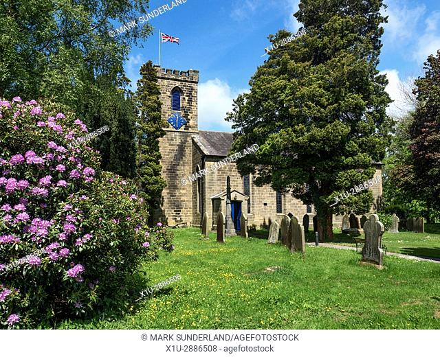 Holy Trinity Parish Church at Dacre Banks, North Yorkshire, England
