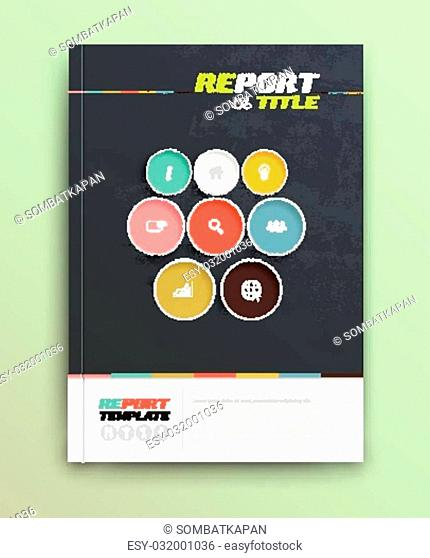 Presentation of brochure cover design template., vector illustration. Magazine, flyer, and report cover layout design