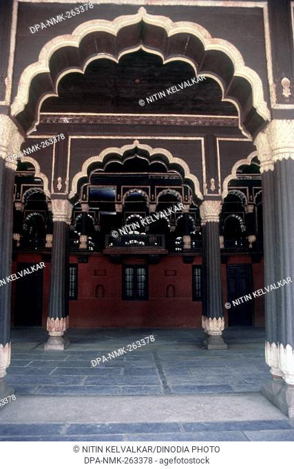 Interior of Tipu Sultan's Summer Palace, Bangalore, Karnataka, India, Asia