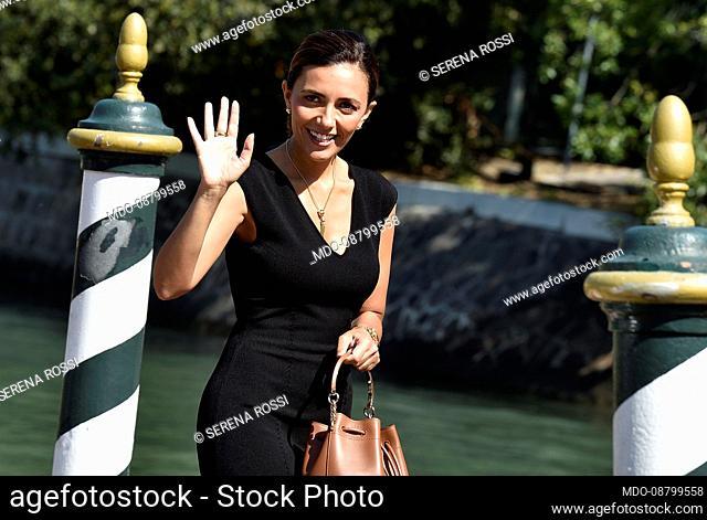 Italian actress Serena Rossi at the 78 Venice International Film Festival 2021