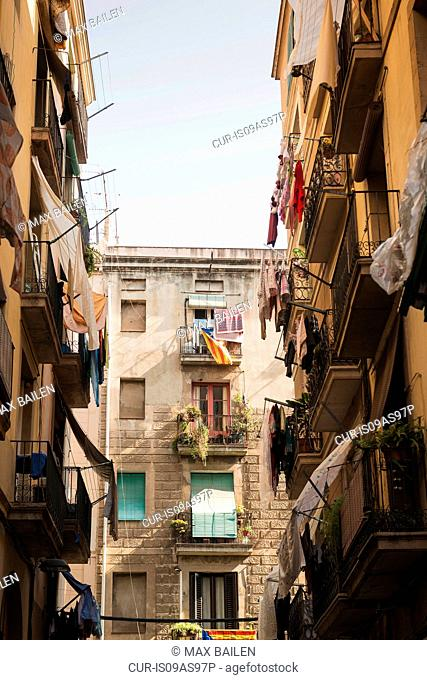 Residential apartment blocks, Barcelona, Spain