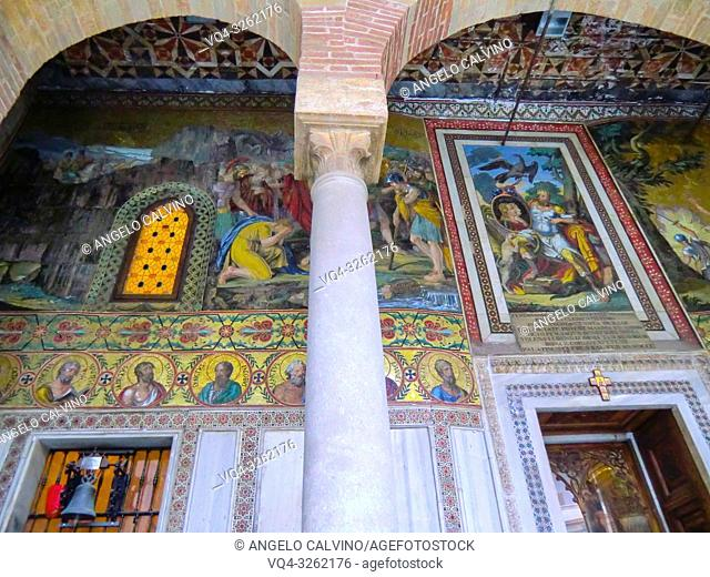 the Palatine Chapel, Cappella Palatina, Medieval Byzantine style mosaics, Palermo, Sicily,Italy