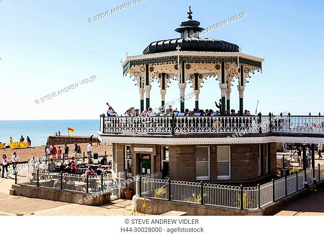 England, East Sussex, Brighton, Seafront Bandstand