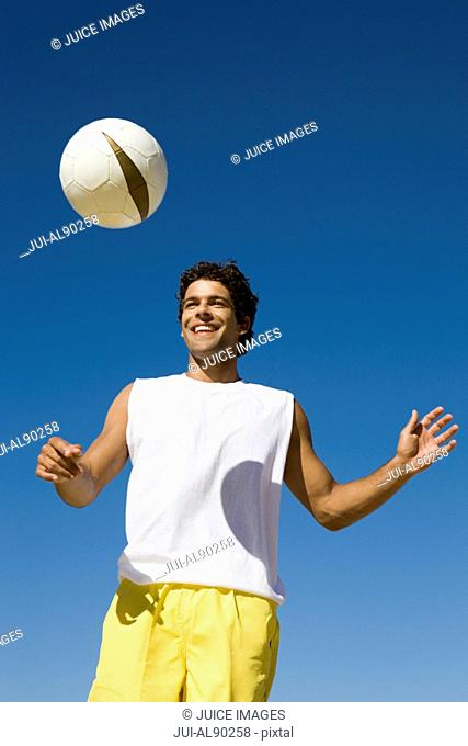 Man playing with ball