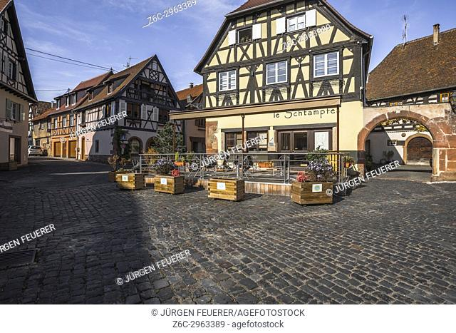 village Boersch, on the Wine Route of Alsace, France