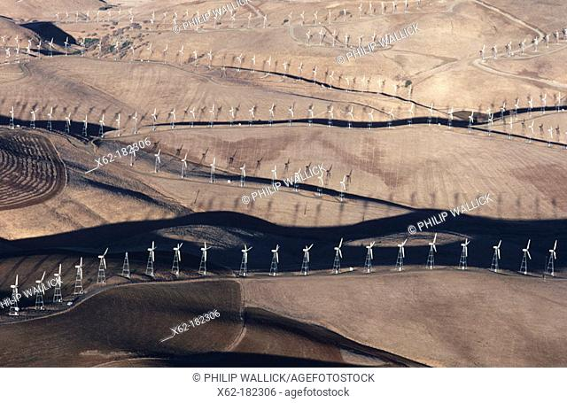Wind generators near Livermore. California, USA