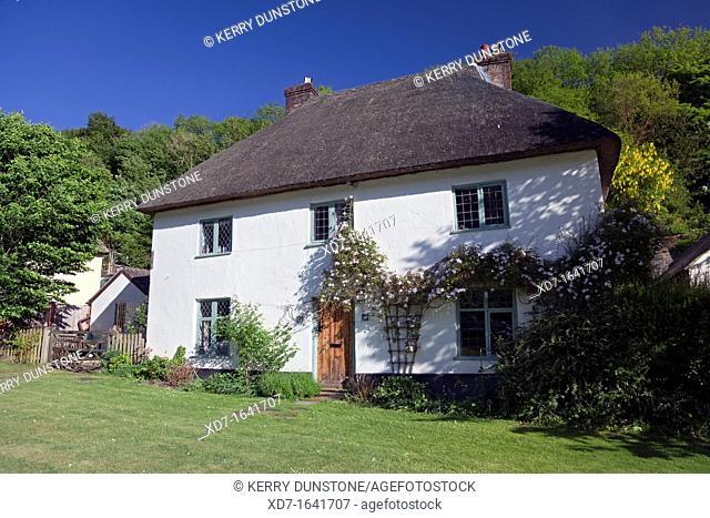 England Dorset Milton Abbas Thatched Cottage