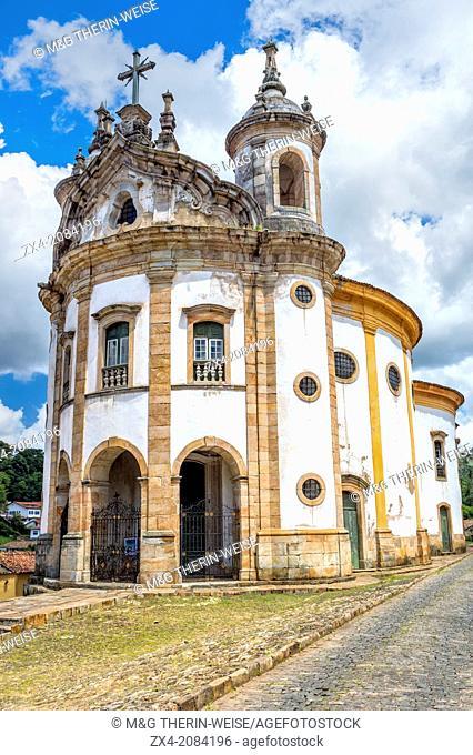 Nossa Senhora do Rosario Church, Ouro Preto, Minas Gerais, Brazil