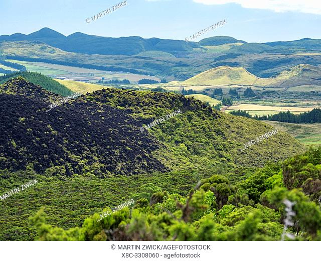 Landscape of the neovolcanic area Misterio dos Negros. Island Ilhas Terceira, part of the Azores (Ilhas dos Acores) in the atlantic ocean