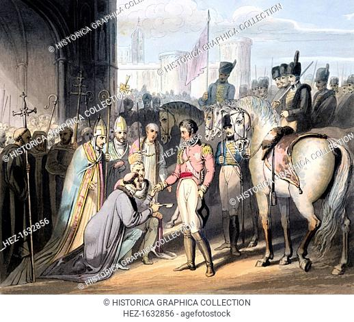 Liberation of Madrid, 6th August 1812 (1819). Members of the clergy welcoming the Duke of Wellington to the city after the withdrawal of the occupying French