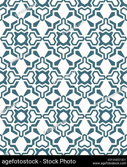 vector dark grey geometric abstract flowers monochrome seamless pattern white background
