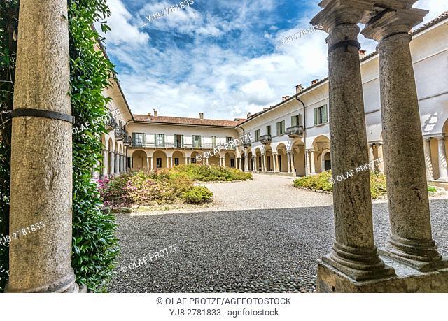 Courtyard of Monastero di S. Antonino, Varese, Italy