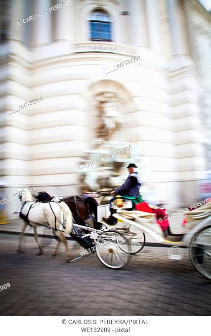 Carriage rides in the zone of Innere Stadt, Vienna, Austria