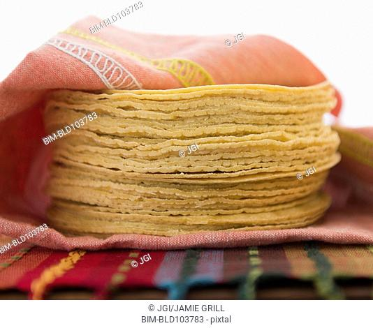 Stack of corn tortillas