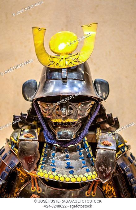 Japan, Tokyo City, Yurakucho area, The Forum Bldg. , samurai attire