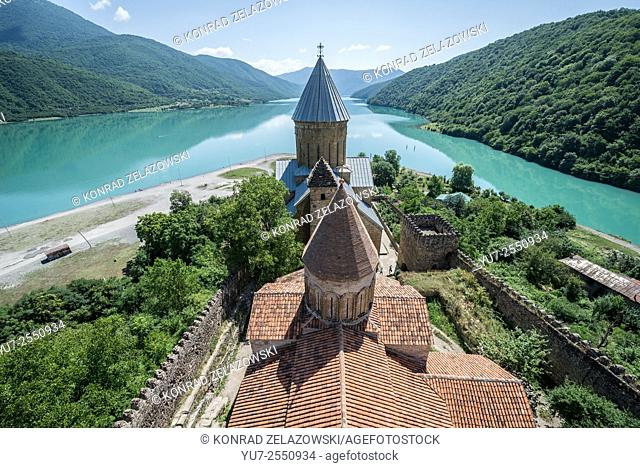 Medieval Ananuri Castle over Aragvi River in Georgia