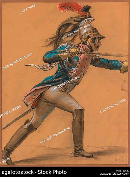 A French Dragoon, Study for The Revolt of Cairo. Artist: Anne Louis Girodet-Trioson (French, Montargis 1767-1824 Paris); Date: ca